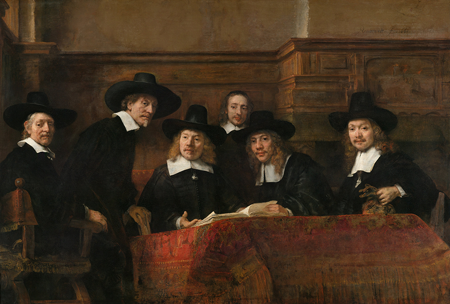 Fig 3. Rembrandt Harmenszoon van Rijn, Syndics of the Drapers' Guild, 1662, oil on canvas