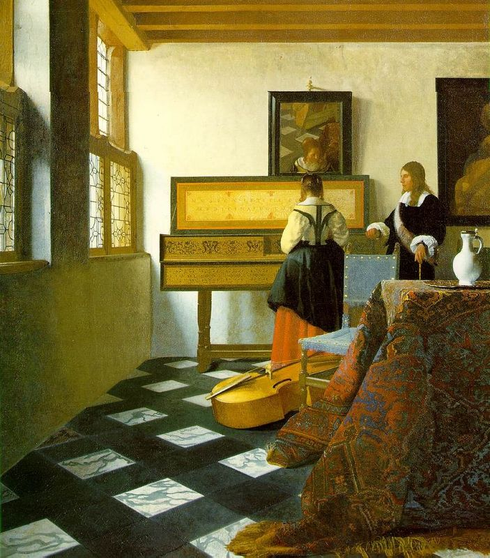 Fig 10. Jan Vermeer, The Music Lesson (1662-65), oil on canvas