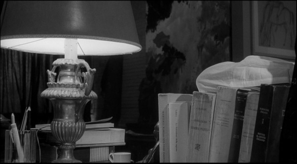 Fig 5. Opening shot: Riccardo's elbow, Michelangelo Antonioni, L'Eclisse, 1962, film still